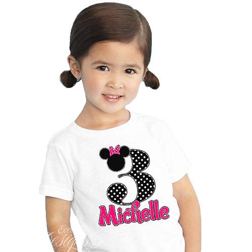 Minnie Mouse - Iron-on Tshirt Transfer