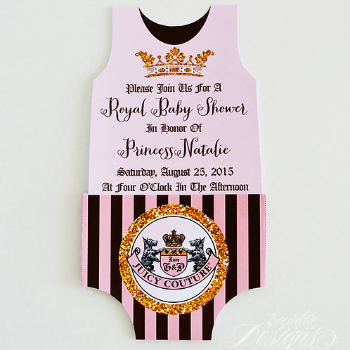 Juicy Couture - Baby Shower Invitation