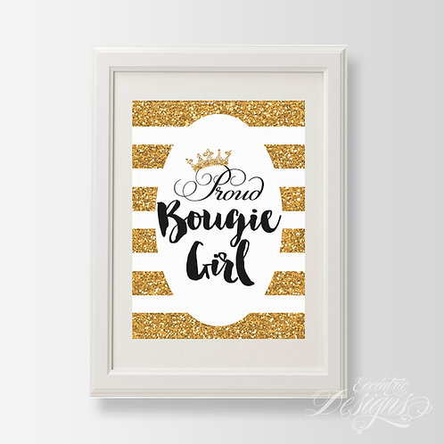 Proud Bougie Girl - Art Print