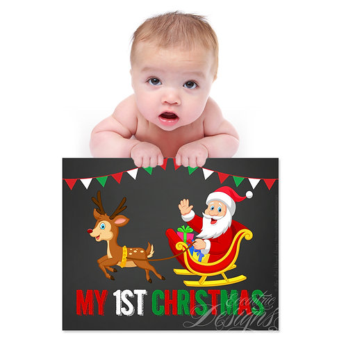 My First Christmas - Photography Prop/Art Print