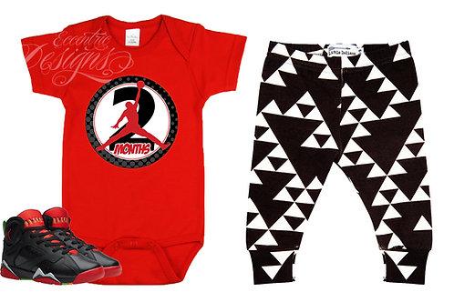 Air Jordan - Newborn Milestone Onesie Stickers