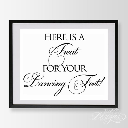 8X10 - Dancing Shoes Wedding Sign
