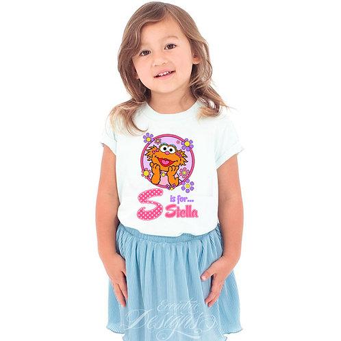 Sesame Street (Zoe) - Iron-on Tshirt Transfer