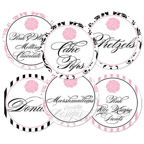 Dessert Table / Candy Buffet Labels (Paris)