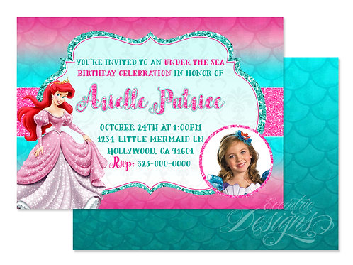 The Little Mermaid - Digital Birthday Invitation