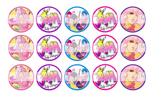 Jem and the Holograms - Bottle Cap Designs