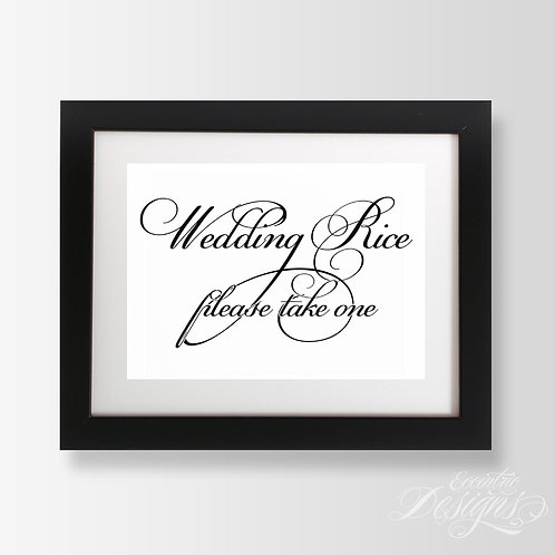 5X7 - Wedding Rice Wedding Sign