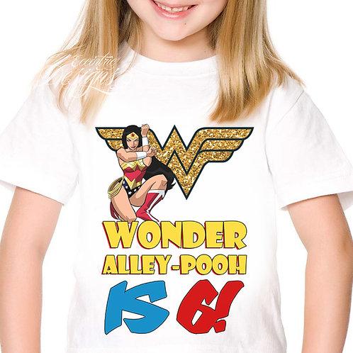 Superhero / Wonder Woman - Iron-on Tshirt Transfer
