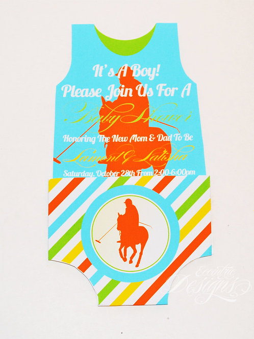 Polo - Baby Shower Invitation