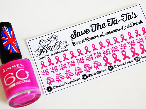 Breast Cancer Awareness - Nail Decals