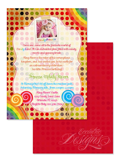Candyland - Digital Birthday Invitation