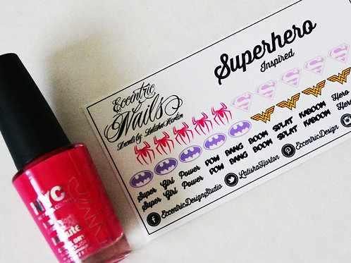 Superhero (Super Woman) - Nail Decals