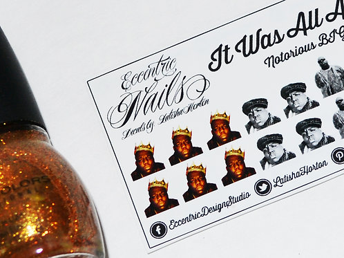 Biggie Smalls (Notorious BIG) - Nail Decals