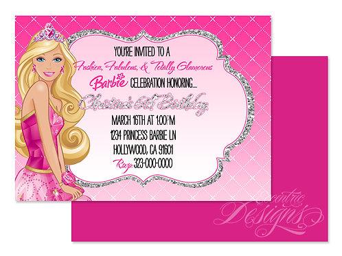 Barbie Princess - Digital Birthday Invitation