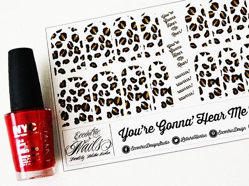 Hear Me Roar - Leopard Animal Print Nail Decals