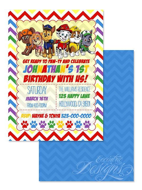 Paw Patrol - Digital Birthday Invitation