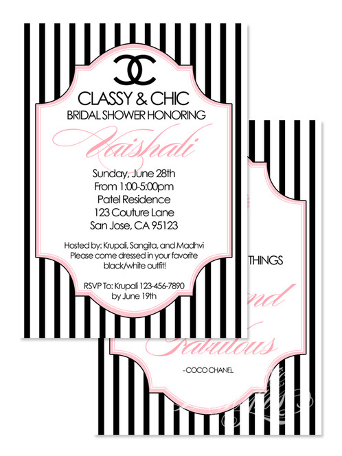 Coco Chanel Digital Invitation