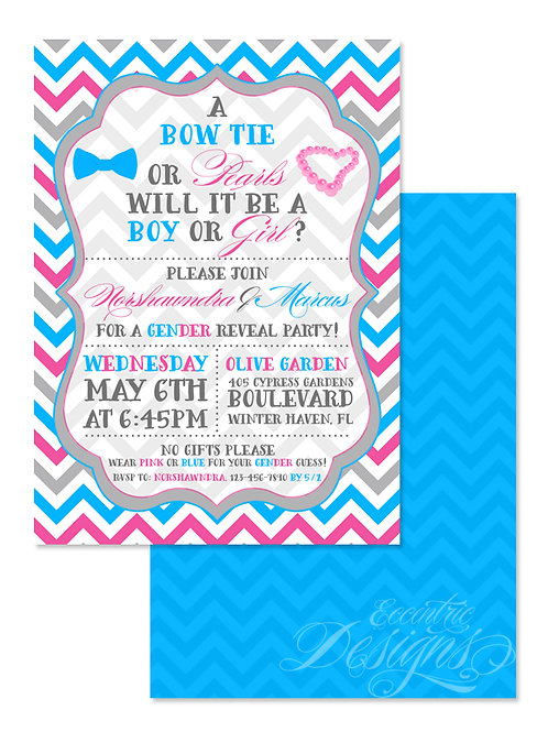 Gender Reveal - Digital Babyshower Invitation