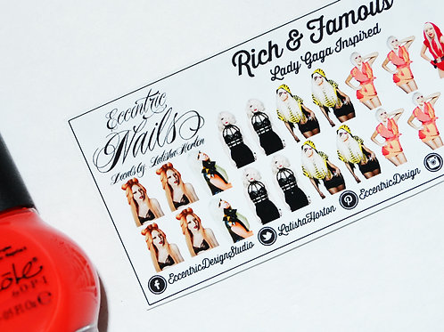 Lady Gaga - Nail Decals