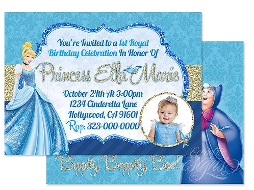 Cinderella - Digital Birthday Invitation