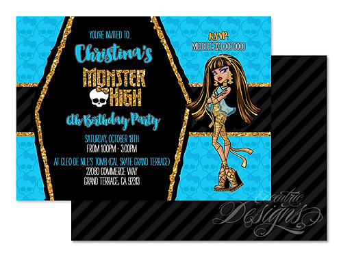 Monster High - Digital Birthday Invitation