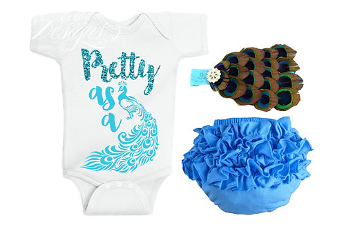 Pretty As A Peacock - Baby Iron-on Tshirt Transfer