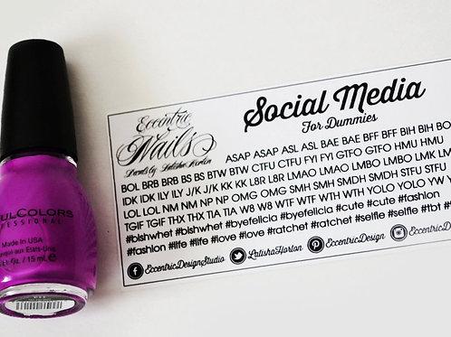 Social Media - Nail Decals
