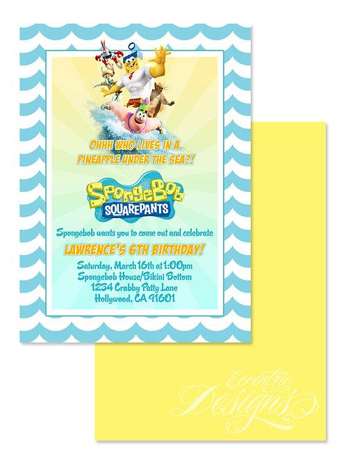 Spongebob Squarepants Digital Birthday Invitation