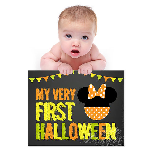 My First Halloween - Photography Prop/Art Print