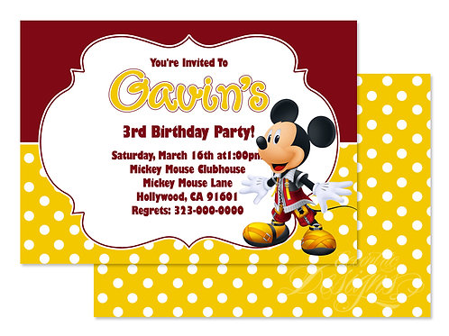 Mickey Mouse - Digital Birthday Invitation