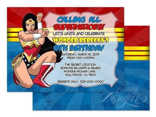 Wonder Woman - Digital Birthday Invitation