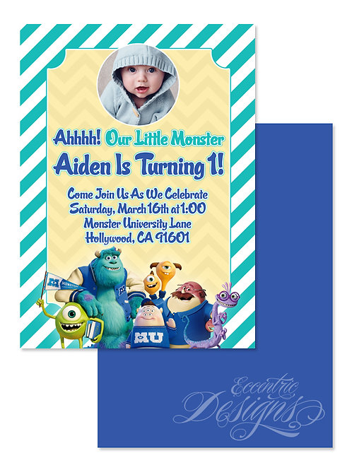 Monster University - Digital Birthday Invitation