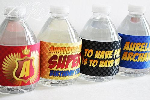 Superhero - Water Bottle or Soda Pop Labels