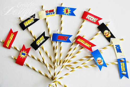 Superhero - Party Toppers or Flags