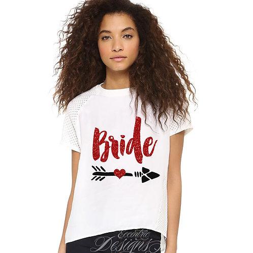 Set of 2 - Bridal Party Iron on Tshirt Transfers