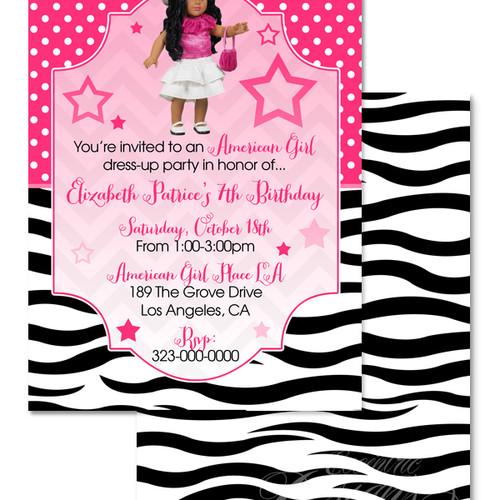 Eccentric Designs Girl Birthday Party Invitations