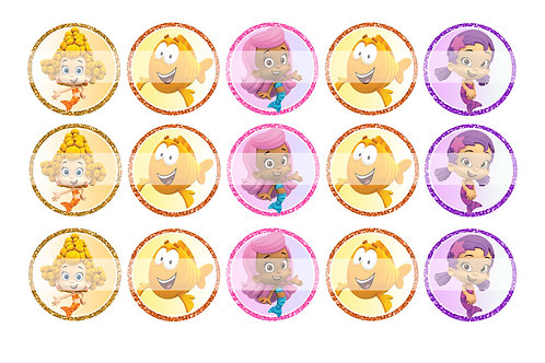 Bubble Guppies (Girls) - Bottle Cap Designs