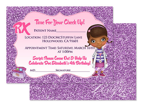 Doc McStuffins - Digital Birthday Invitation