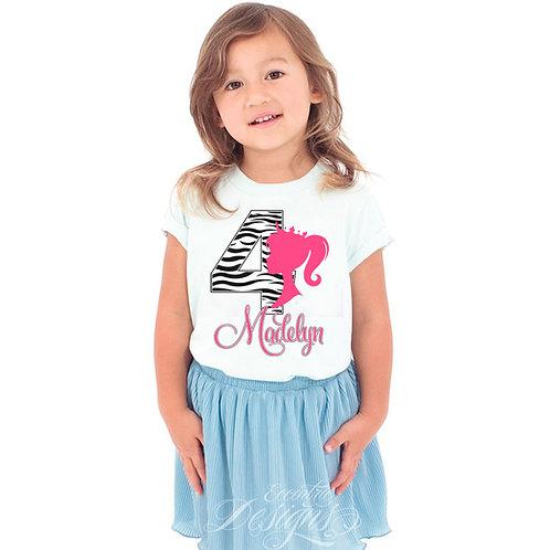 Barbie Princess - Iron-on Tshirt Transfer
