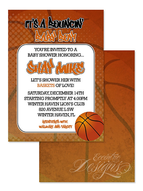NBA Basketball - Digital Party Invitation
