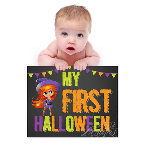 My First Halloween - Photography Prop/Art Print