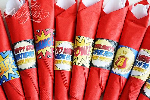 Superhero - Napkin Wrappers
