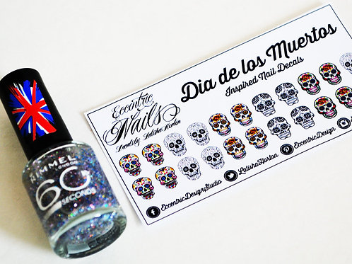 Sugar Skulls (Day of the Dead) - Nail Decals