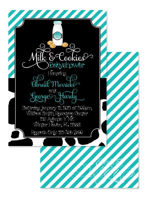 Milk and Cookies - Digital Babyshower Invitation