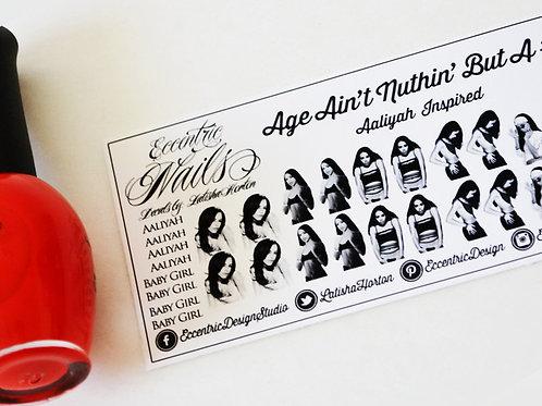 Aaliyah (Baby Girl) - Nail Decals