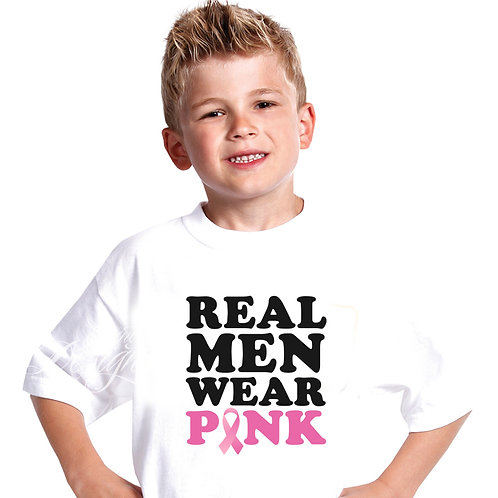 Real Men Wear Pink Breast Cancer Iron-on Transfer