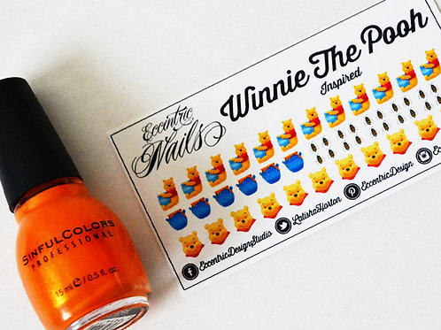 Winnie The Pooh - Nail Decals