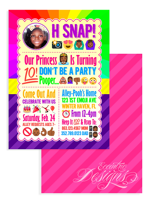 Emoji - Digital Birthday Invitation