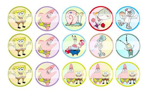 Spongebob Squarepants - Bottle Cap Designs