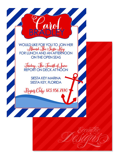 Nautical - Digital Birthday Party Invitation